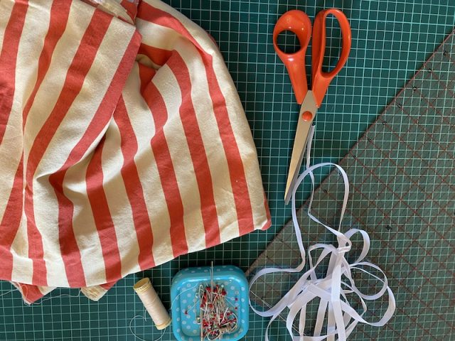 Materials needed for DIY Produce Bags