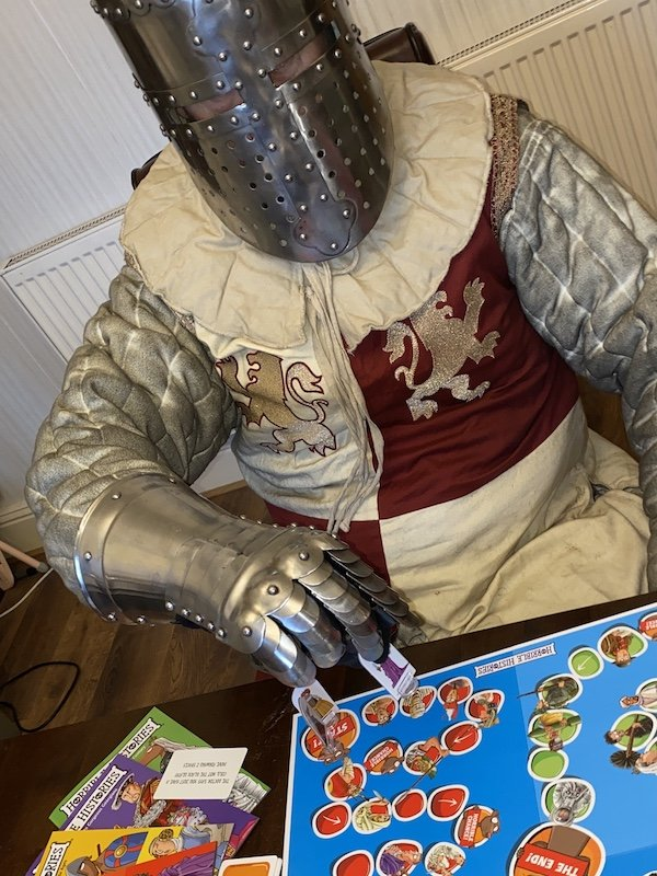 Knight Playing Horrible Histories