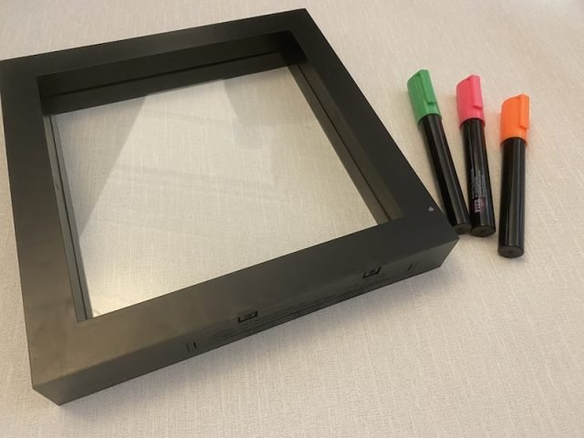 The Light uP Neon Effect Message Frame and pens