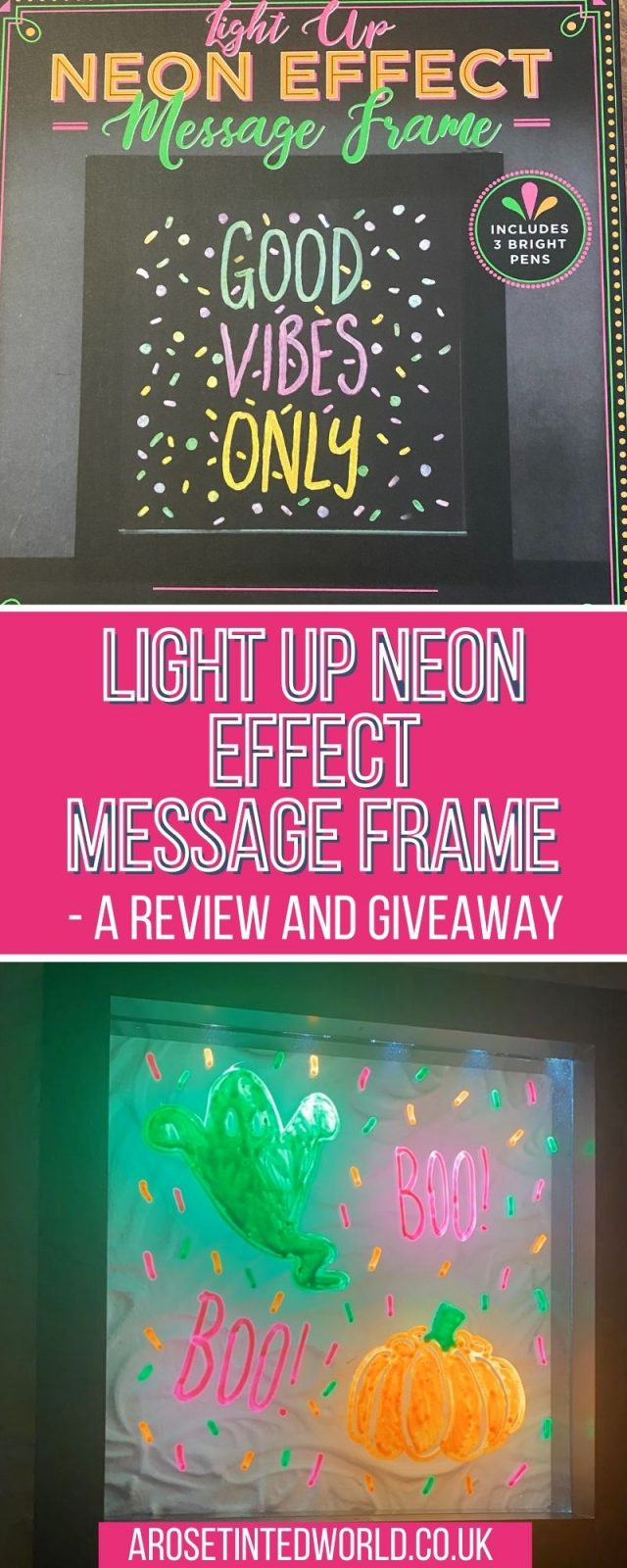 Light Up Neon Effect Message Frame - I was asked to review this fun gift idea. What can this board be used for? See what I thought.