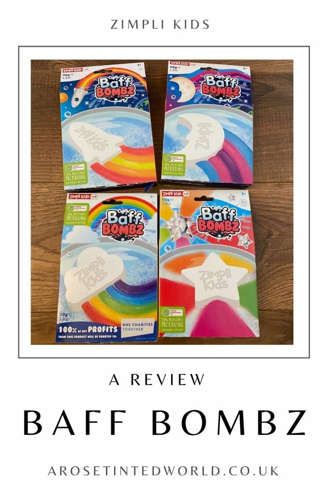 Zimpli Kids Baff Bombz Review - see what we thought of the range of rainbow and colour stream bath bombs from Zimpli. Make bath time fun!