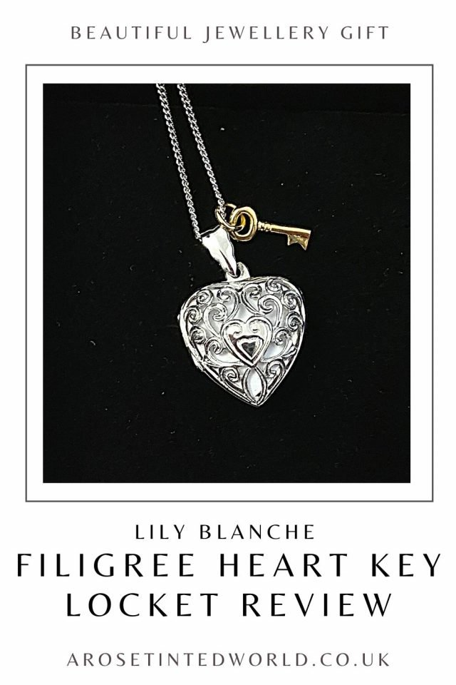 Lily Blanche Key Locket Review - we were sent a white gold filigree heart locket for our opinion. Is it a good gift idea? See our thoughts.