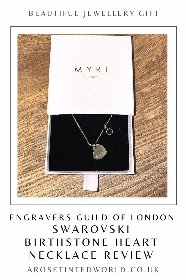 Swarovski Birthstone Heart Necklace Review - Engravers Guild Of London sent me this pendant for my opinion. Is it a good jewellery gift idea?