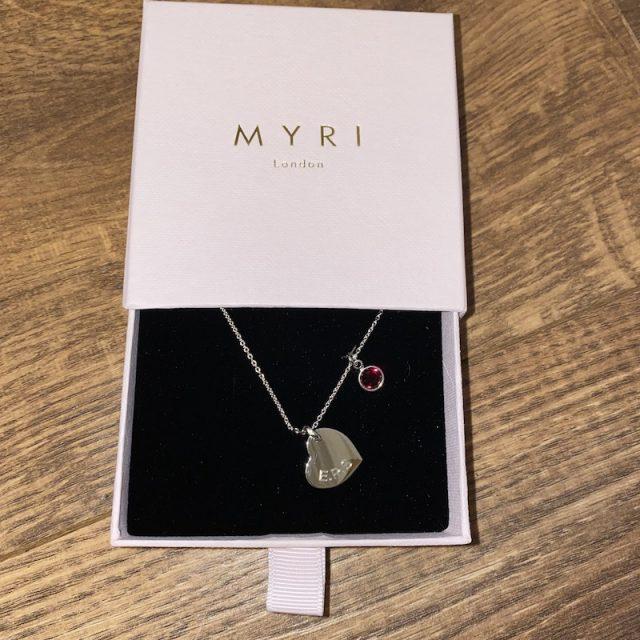 Swarovski Birthstone Heart Necklace